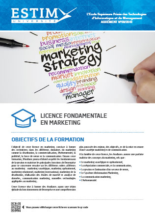Licence Fondamentale en Marketing
