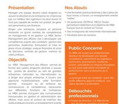 MBA Sénior Management Des Affaires